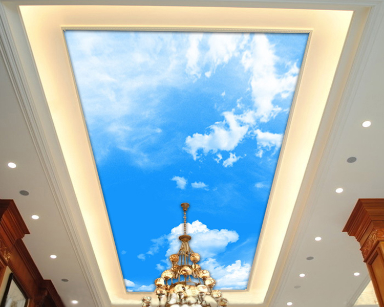 Mural Blue sky ktv the murals 3d stereo ceiling 3d black 3D wallpaper for living room high definition sky blue sky ceiling murals landscape wallpaper living room bedroom 3d wallpaper for ceiling