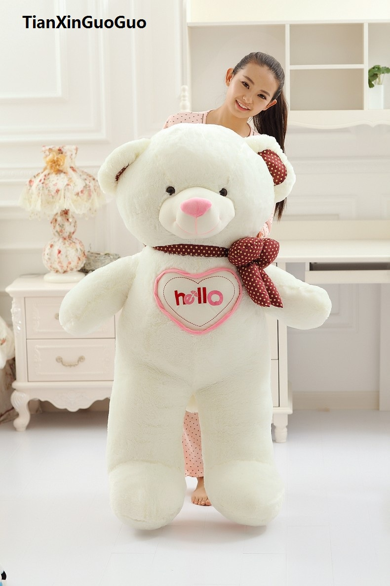 large 130cm white hello teddy bear plush toy soft doll hugging pillow birthday gift w2994 lovely glasses panda large 90cm plush toy panda doll soft hugging pillow proposal birthday gift x028