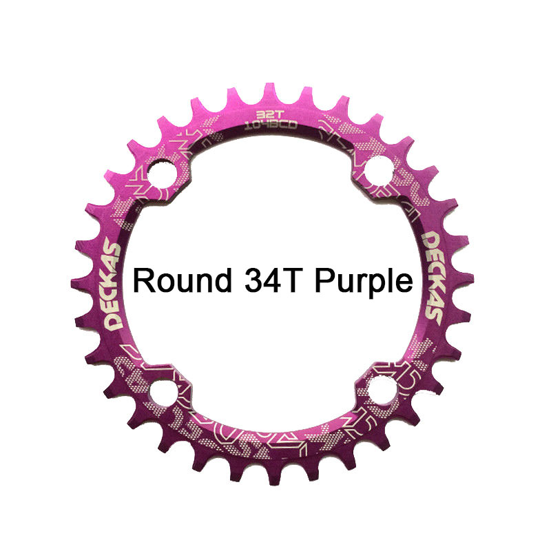 Bike Crank 104BCD Narrow Wide Crankset Single Plate Chainring Bicycle Chainwheel Bike Circle Round Shape