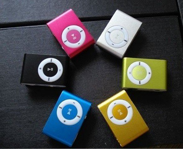 Wholesale Good quality shufle Clip mp3 1/2/4/8/16GB, Mp3 player,free MP4 downloads,different color hot selling