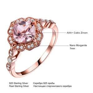 Image 5 - Umcho 925 スターリングシルバーリングセット女性モルガナイト婚約結婚指輪ブライダルヴィンテージ女性ファインジュエリー用のリング