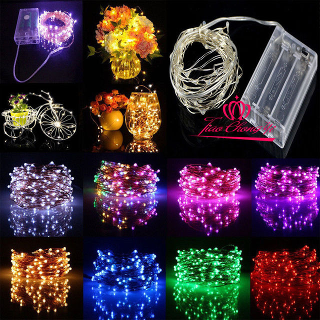 5M 10M LED Bendable Silver Wire Fairy String Lights Tree Branch Twigs 1A power