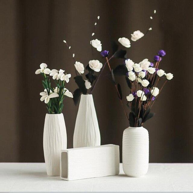 Aliexpress Buy Modern Minimalist Style White Ceramic Flower