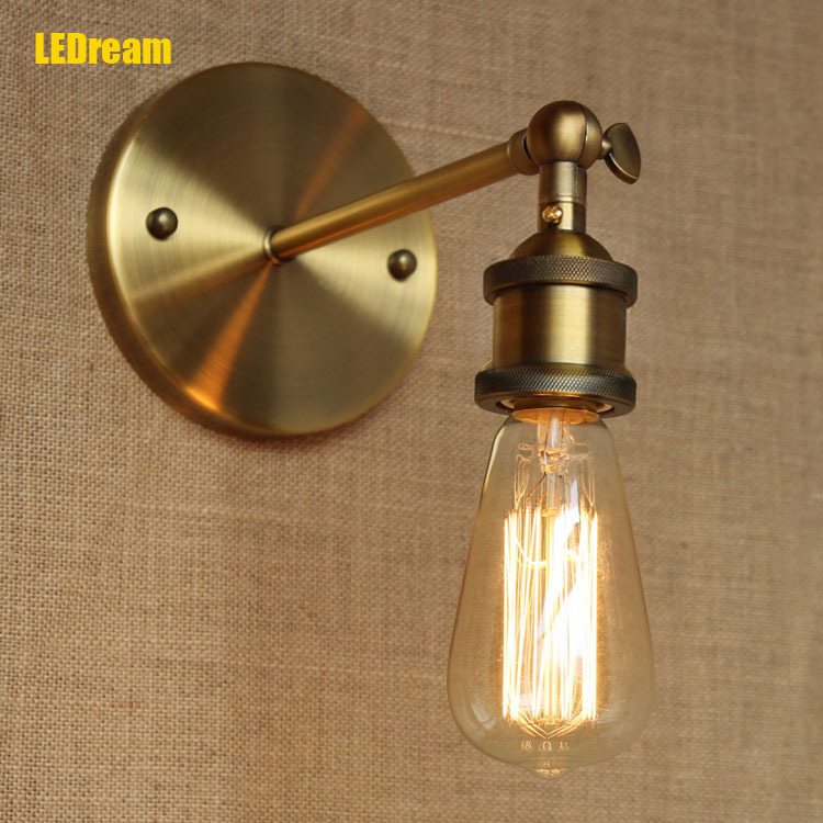LEDream Industrial American restaurant corridor lamp bedside contracted in bars Internet cafes wrought iron wall lamp