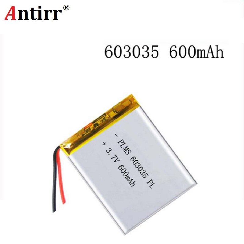 Free Shipping Polymer battery <font><b>600</b></font> <font><b>mah</b></font> <font><b>3.7</b></font> <font><b>V</b></font> 603035 smart home Li-ion battery for dvr GPS mp3 mp4 image