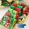 Retail Christmas Style Ribbon Set Mix Decorative Printed Grosgrain Ribbon 32 Yards Mix