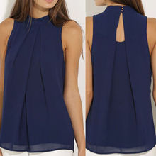 New Fashion Summer clothing Vest Top Sleeveless Shirt Blouse Casual Chiffon Women Blouses