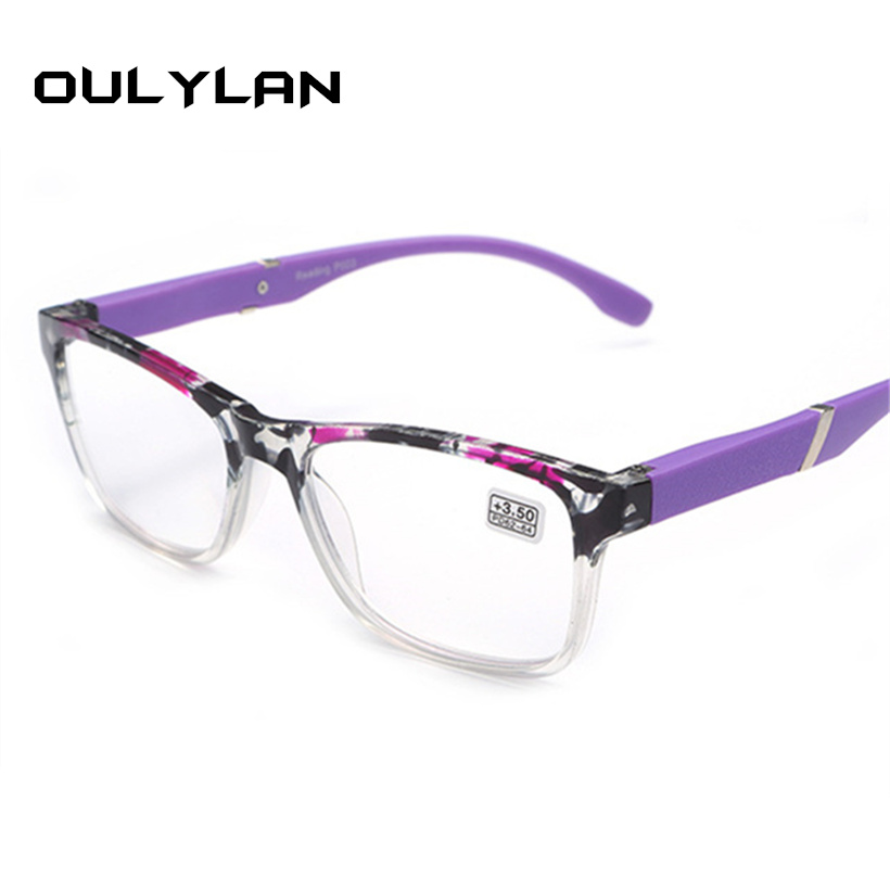 Oulylan Hyperopia Reading Glasses Men Women Classic Resin Lens Presbyopic Reading Glasses +1.5 +2.0 +2.5 +3.0 +3.5+4.0