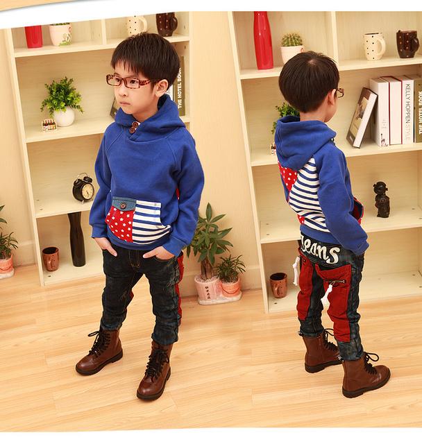 Outono frete grátis 2016 crianças korea Kids ' meninos moda camisola A071