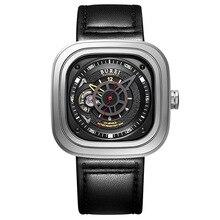 Новый Бренд BUREI Сапфир Зеркало Автоматические Движения Роскошные Деловые Мужчины часы Моды Водонепроницаемый Военные Часы reloj hombre