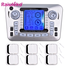 20 Levels Tens Machine Unit with 10 Electrode Pads for Pain Relief Pulse Massage EMS Muscle Stimulation Acupuncture Body Massage