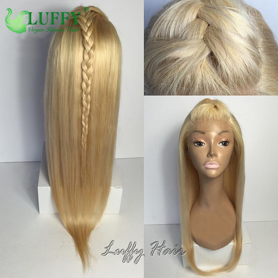 Silky Straight #613 Light Blonde Full Lace Wig Glueless