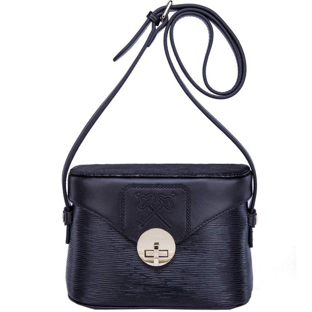 ФОТО Boyatu brand Cow Leather Women Messenger Bag Fashion Trunk Shape Water Ripple Single Shoulder Bag