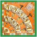 2016 Silk H French Design And The Wind Knife Pattern Silk Satin Ladies Silk Scarf Shawl