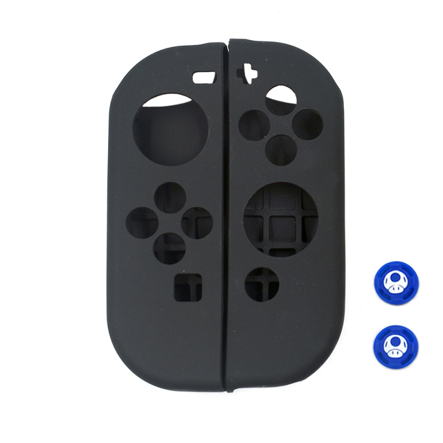 Dustproof Soft Silicone Protective Case Skin Cover for Nintend Switch NS Joy-Con Case&2 Analog Thumbstick Grips Joystick Caps 3
