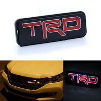 Free Shipping TRD LED Red Emblem Car Front Grill Grille Badge For Toyota Camry Corolla Yaris