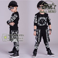 Autumn Kids Hip Hop Dance Clothes Children's Sports Suit Cotton Long-sleeved Clothing Set For Toddler Boys Spring Hiphop Outwear