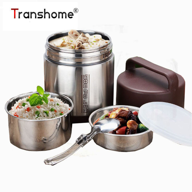 Stainless Steel Thermal Meal Boxes bento box Large capacity double vacuum  pot Eco Friendly Student Insulation Food Boxes -in Dinnerware Sets from  Home