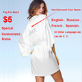 "White Silky Night Dressing Gown Women Wedding Robe Sexy Satin Robes Ladies Kimono Bathrobe Noiva Bridal Robe ""Bride"" Graphic"