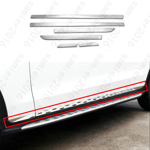 6x Steel Out Body Side Molding cover trim For Mercedes-Benz GLC Class X205 2016 2017