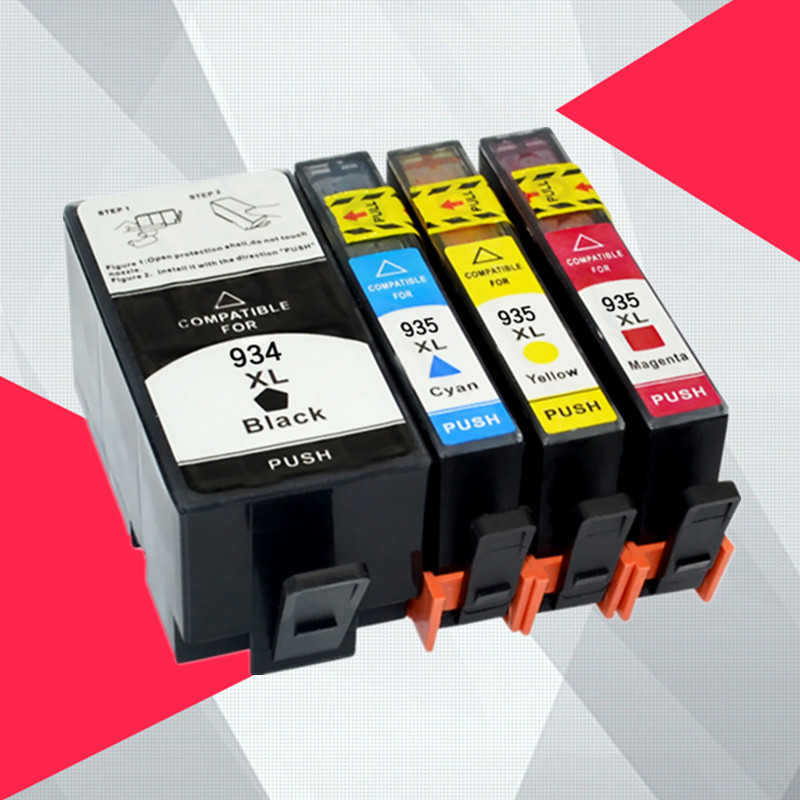 4PK Compatible For HP 934 935 Ink Cartridge With Chip 934XL 935XL For HP OfficeJet Pro 6230 6830 6820 Printer For Hp934