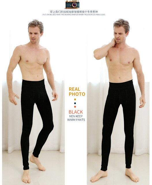 65e3b2c88 winter men fashion velvet warm Pants men casual wam inner wear pants ...