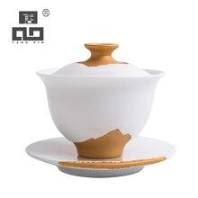 TANGPIN ceramic gaiwan tea cup handmade chinese kung fu set drinkware