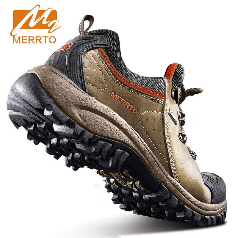 2017 MERRTO Hiking Climbing Shoes Male Breathable Walking Sneakers Male Light Weight Waterproof Man Outdoor Trekking Boots#18213 humtto new hiking shoes men outdoor mountain climbing trekking shoes fur strong grip rubber sole male sneakers plus size