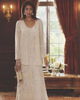 Don's Bridal A-line Vestido De Madrinha Chiffon Plus Size Mother of the Bride Dresses with jacket Ruffle Beaded Wedding Grooms