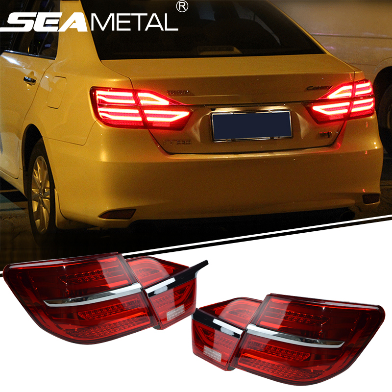 Car Tail Light For Toyota Camry 2014+ 2015 2016 12V Car LED Rear lights DRL Taillight Rolling Turning Signal Auto Rear Light 2014 2015 year camry v55 led bumper light for toyota v1
