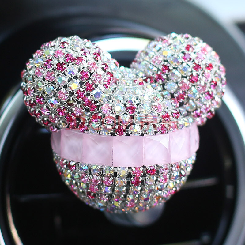 Car Air Freshener Perfume 1PC Rhinestone Crystal Car-Styling For Auto - Car Interior Accessories