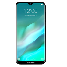 DOOGEE Y8 Android 9.0 Mobiele Telefoon FDD LTE 6.1inch 19:9 Waterdrop LTPS Screen Smartphone MTK6739 3GB RAM 32GB ROM 3400mAh Dual SIM
