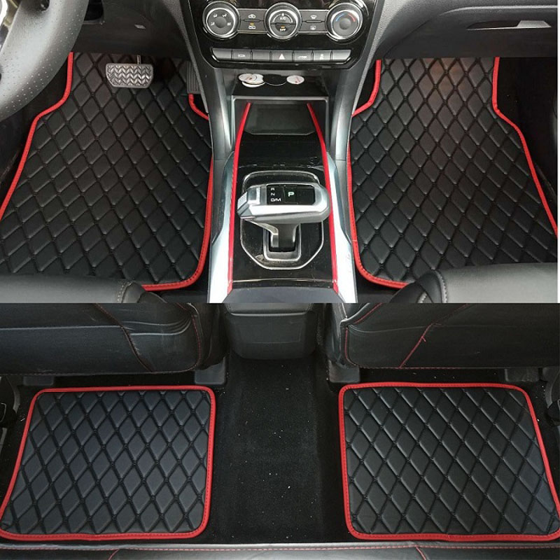 ZHAOYANHUA Universal car floor mats car styling mat liner fit All Models Audi A1 A3 A6 A7 A8 Q3 Q5 Q7 TT