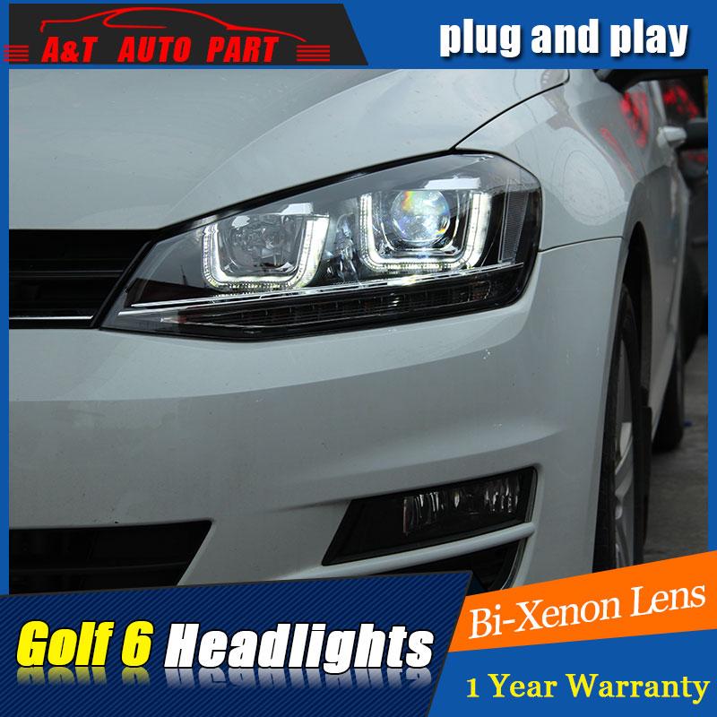 auto pro car styling pour vw golf7 phares golf 7 mk7 led phare drl lentille double faisceau h7. Black Bedroom Furniture Sets. Home Design Ideas