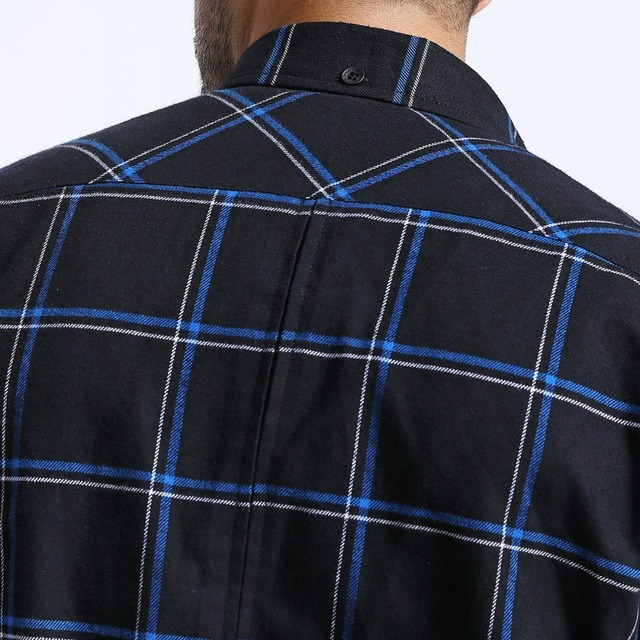 Men's Plaid Shirts Long Sleeve 100% Pure Cotton Casual