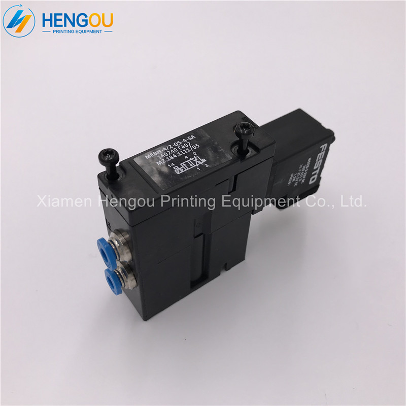 4 Pieces M2.184.1111 M2.184.1111/05 MEBH-4/2-QS-4-SA Valve for SM52 SM102 Printing Machine4 Pieces M2.184.1111 M2.184.1111/05 MEBH-4/2-QS-4-SA Valve for SM52 SM102 Printing Machine