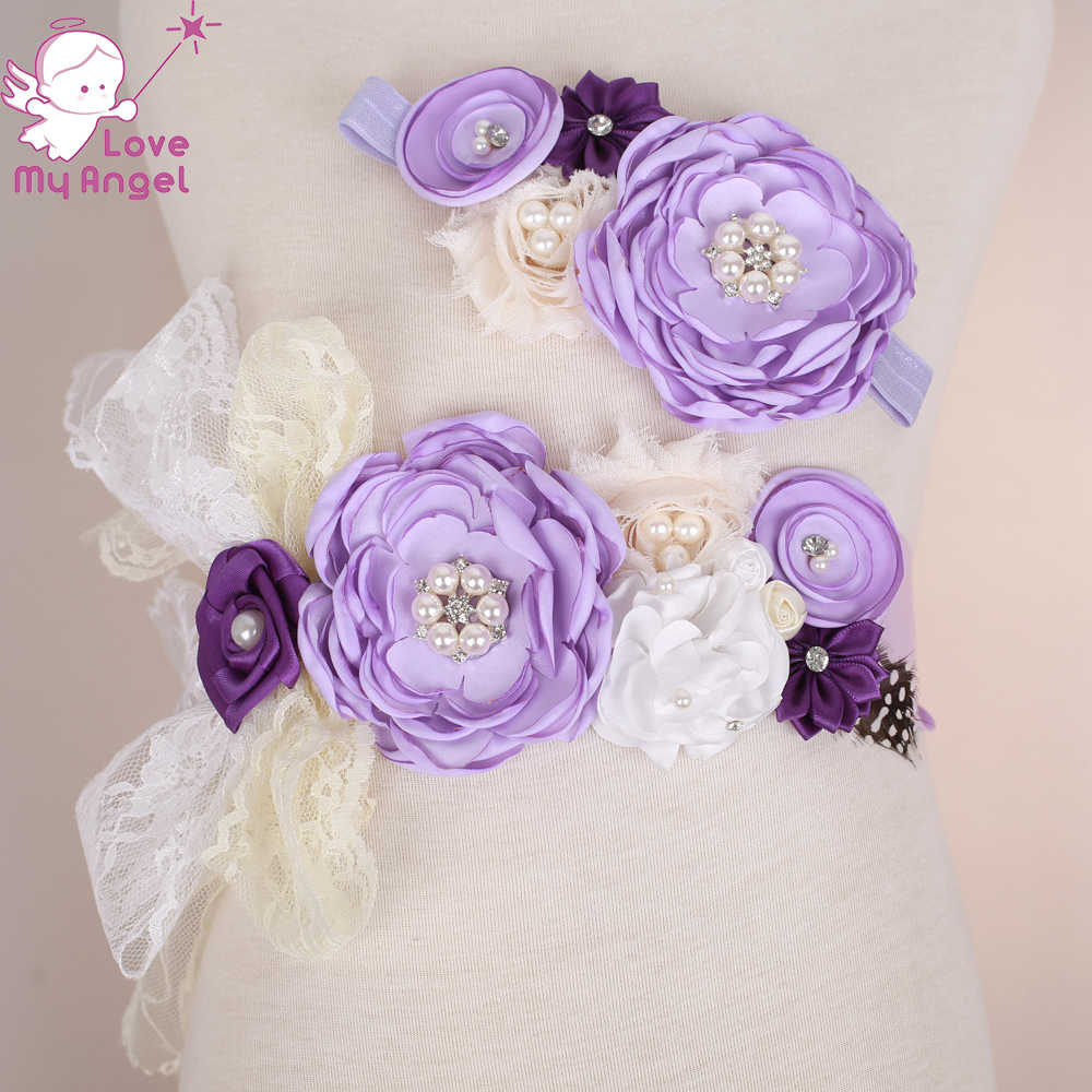 Detail Feedback Questions About 1set Lilac Purple Ivory Flower Girl