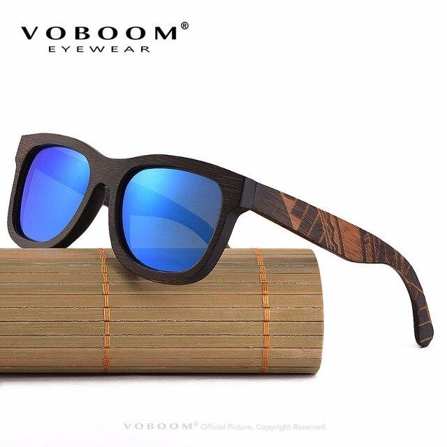 5dbc1b9b9df VOBOOM Polarized UV400 Sunglasses Men Women Wooden Sun Glasses Engraving  Frame TA05 Brown