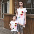 Family Set Clothes For Mother And Daughter Sale Sets 2015 New Brand Children Cartoon Beauty Drilling Checkered Suit Her Daughter