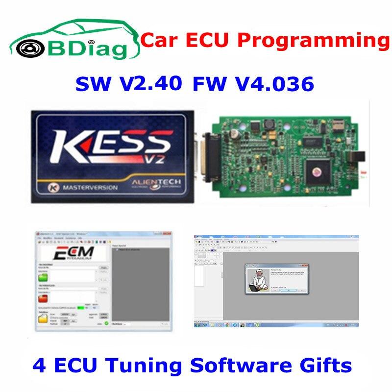 US $49 99 |Newest V2 40 KESS V2 V4 036 Master Version No Token Limit FW  4 036 KESS V2 OBD2 Manager Tuning Kit Car ECU Programmer Free Ship-in Code