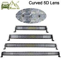 Comparar Barra de luces Led curvada XuanBa 5D 52 pulgadas 500W para camiones de carretera 4x4, Tractor 4WD ATV 12V 24V, Combo de luces Led para conducción fuera de carretera