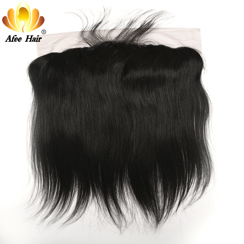 AliAfee Hair Ear to Ear Lace Frontal Brazilian Straight Remy Human Hair 13*4 with Baby Hair 130% Destiny Free Shipping