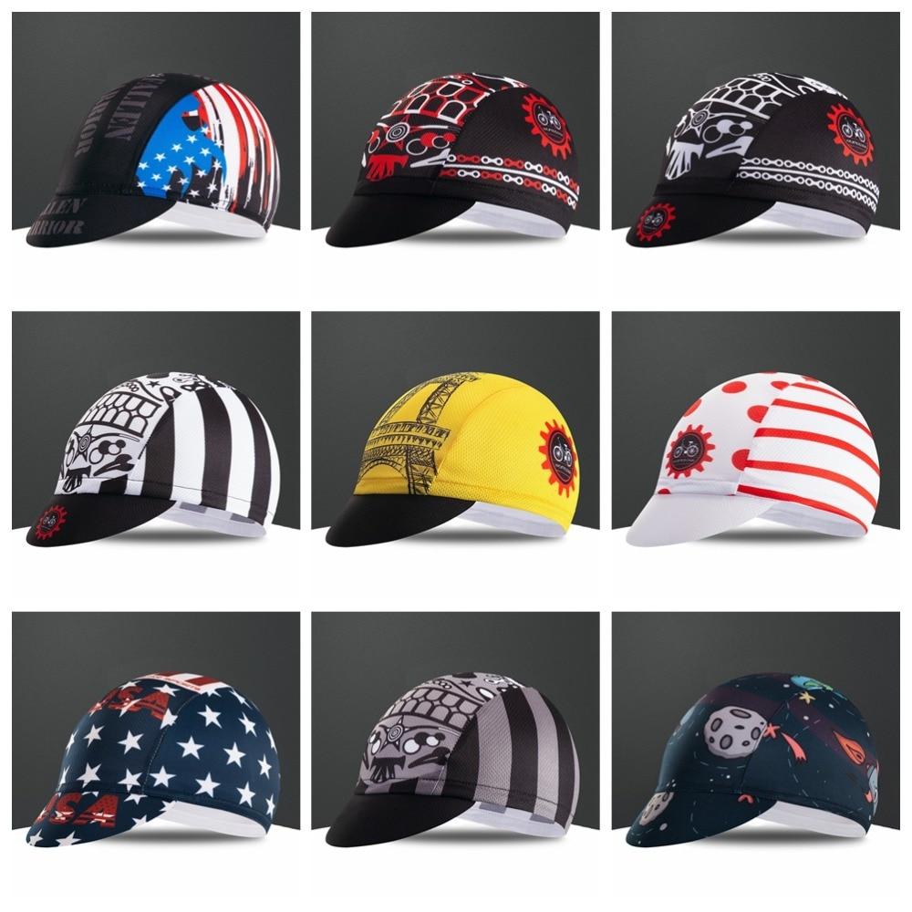2019 USA Outdoor Cycling Cap Women Men Bike Bicycle Bandana Hats Ciclismo Sun UV Hat MTB Team Pro Headband Headwear Skull Gear