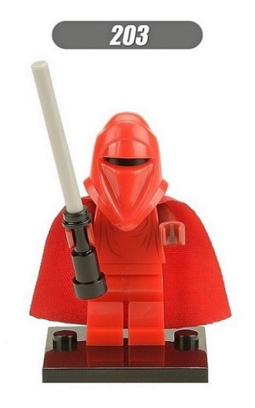 XH 203 Single Sale Super Heroes Red Guard Darth Nihilus With Red Lightsaber Star Wars Building Blocks Bricks Toys for children
