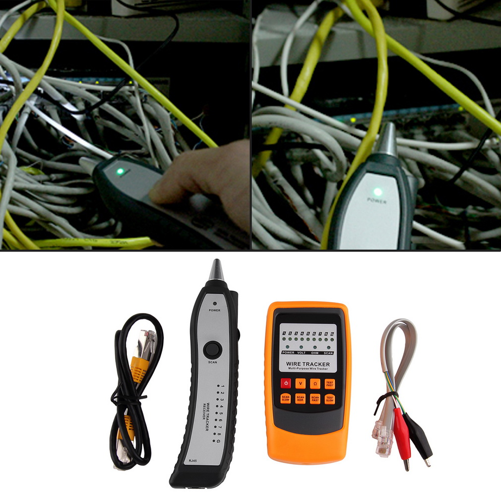 Cable Tester Tracker Phone Line Network Finder RJ11 RJ45 Wire Tracer Brand New