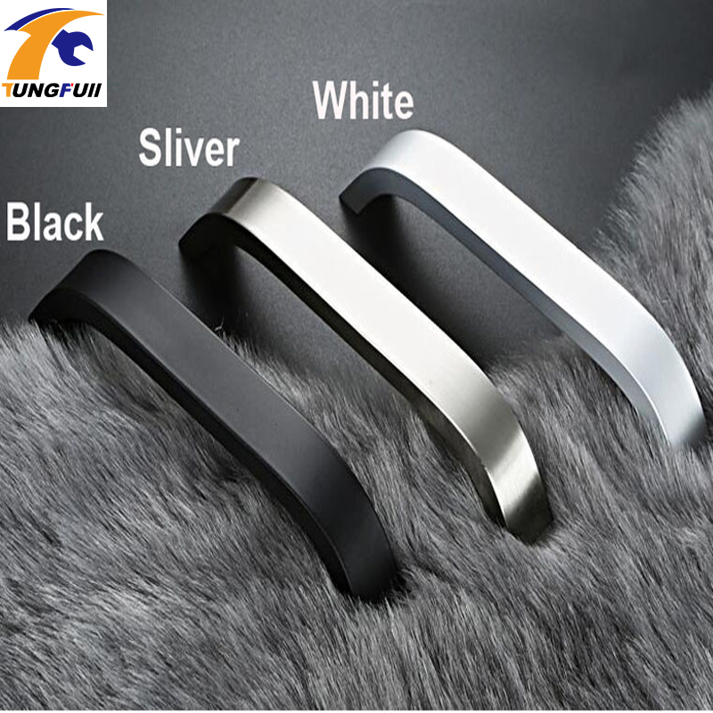 In Stock 5pcs Kitchen Cabinet Handles and Knobs Black Furniture Handle for Kitchen Cabinet Drawer Pull 96mm/128mm/160mm/192mm 10pcs kitchen cabinet handles and knobs black furniture handle for kitchen cabinet drawer pull single hole 64mm 96mm 128mm