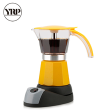 YRP 6 Cups Portable Electric Coffee Maker Espresso Moka Coffee Pot Italian Espresso Mocha Latte Percolator Tool Filter Cafeteira espresso portable coffee maker coffee pot