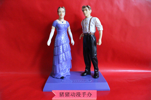 Original Titanic Movie Rose And Jack Love Figure Toy Model Home