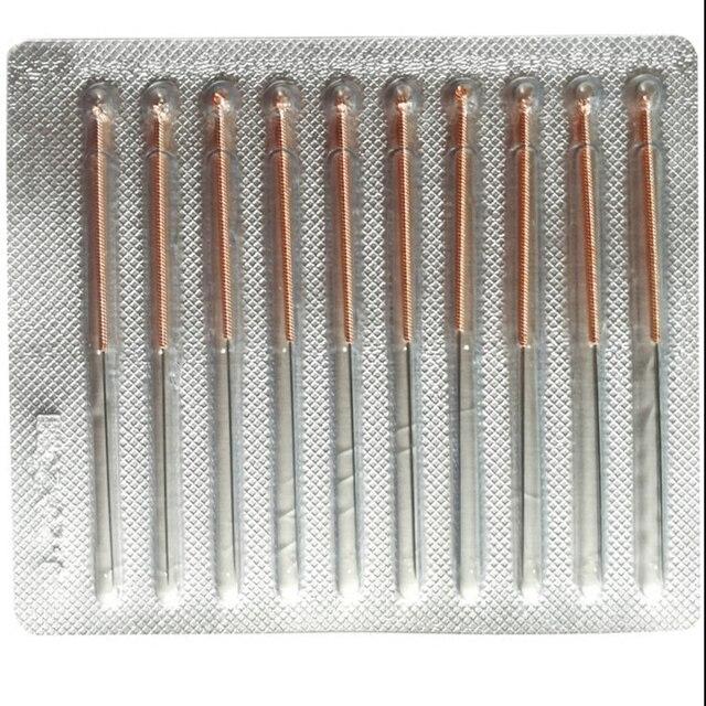 0.25/0.30/0.35/0.40mm 5*100 sztuk/pudełko miedziany uchwyt igły do akupunktury jednorazowe sterylne chińskie tradycyjne igły