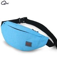 ISKYBOB Hot Sale Men Male Casual Functional Fanny Bag Waist Bag Money Phone Belt Bag Waist Packs